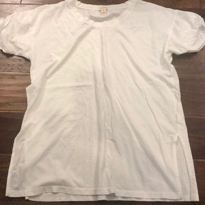 J crew white shirt tee with side slit